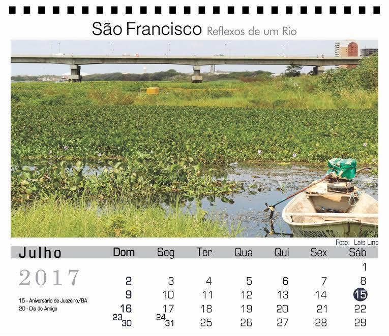 Rio São Francisco é tema de Calendário 2017