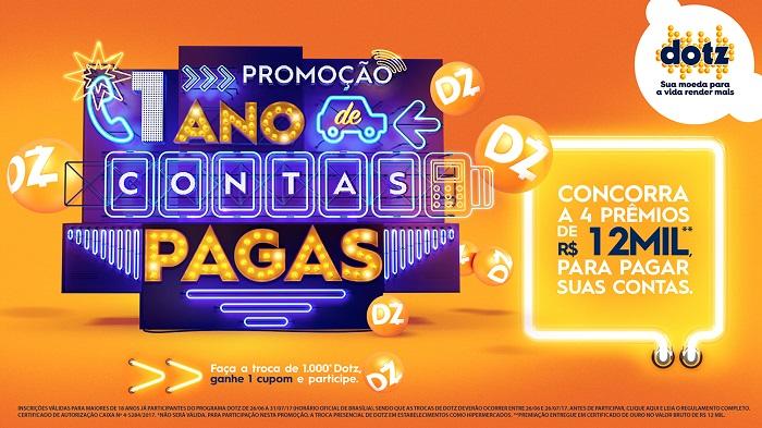"""Dotz realiza promoção """"1 Ano de Contas Pagas"""""""