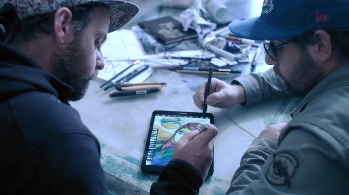Samsung faz campanha do Galaxy Tab S3 com OSGEMEOS