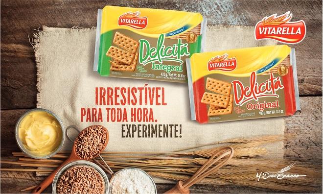 """Novo Biscoito Delicitá """"Irresistível Para Toda Hora""""da Vitarella"""